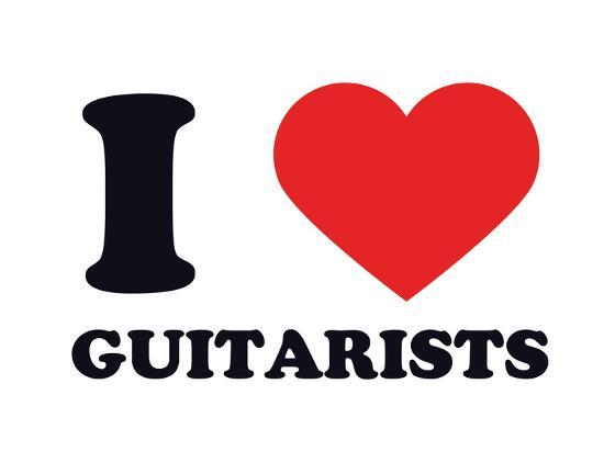 I Heart Guitarists--Giclee Print