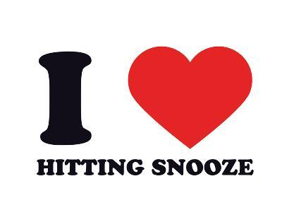 I Heart Hitting Snooze--Giclee Print
