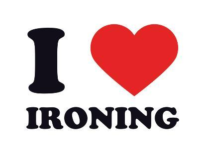 I Heart Ironing--Giclee Print