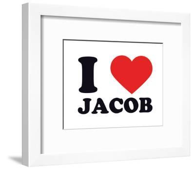 I Heart Jacob--Framed Giclee Print