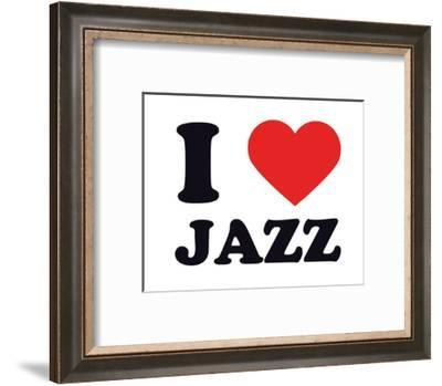 I Heart Jazz--Framed Giclee Print