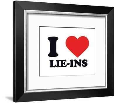 I Heart Lie-Ins--Framed Giclee Print