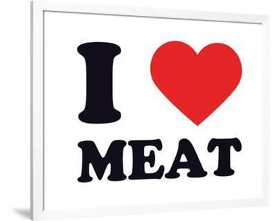 I Heart Meat--Framed Giclee Print