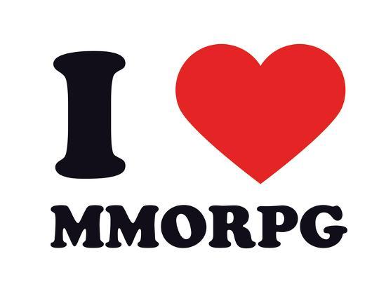 I Heart MMORPG--Giclee Print