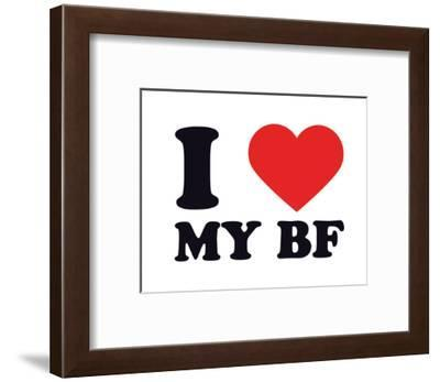 I Heart My BF--Framed Giclee Print