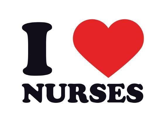 I Heart Nurses--Giclee Print