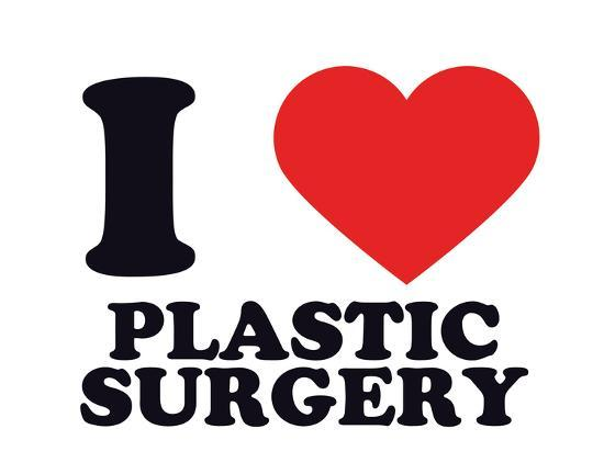 I Heart Plastic Surgery--Giclee Print