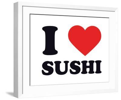I Heart Sushi--Framed Giclee Print