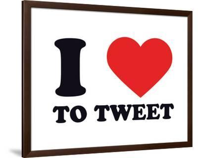 I Heart to Tweet--Framed Giclee Print