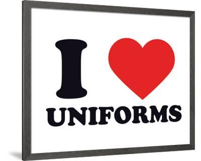 I Heart Uniforms--Framed Giclee Print