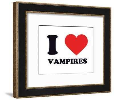 I Heart Vampires--Framed Giclee Print