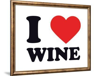 I Heart Wine--Framed Giclee Print