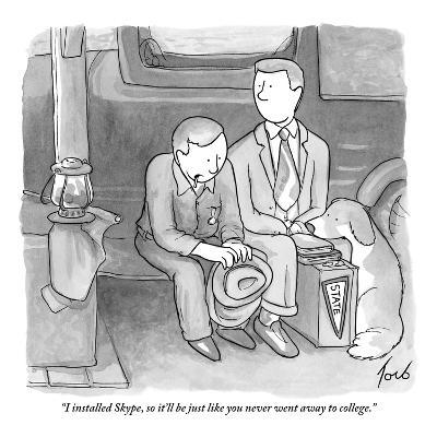 """""""I installed Skype, so it'll be just like you never went away to college."""" - New Yorker Cartoon-Tom Toro-Premium Giclee Print"""