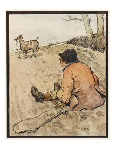 I J Stands for Jorrocks of Famed Handley Cross - But Oh, the Poor Fellow Has Taken a Toss!'--Giclee Print