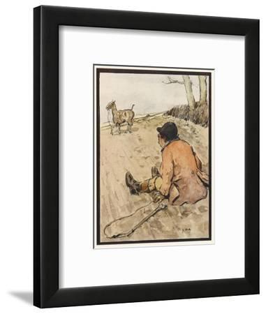 I J Stands for Jorrocks of Famed Handley Cross - But Oh, the Poor Fellow Has Taken a Toss!'--Framed Giclee Print
