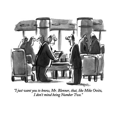 """I just want you to know, Mr. Blenner, that, like Mike Ovitz, I don't mind?"" - New Yorker Cartoon-Lee Lorenz-Premium Giclee Print"
