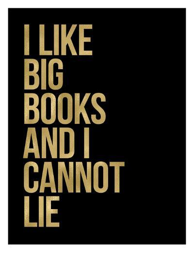 I Like Big Books Golden Black-Amy Brinkman-Art Print
