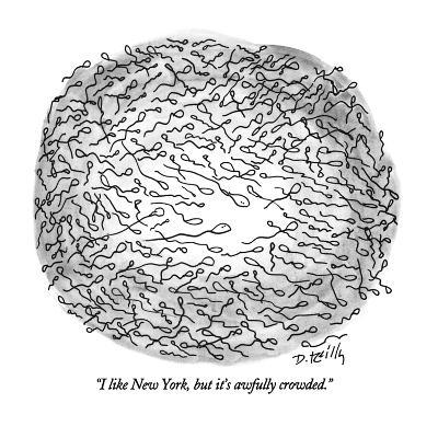 """""""I like New York, but it's awfully crowded."""" - New Yorker Cartoon-Donald Reilly-Premium Giclee Print"""