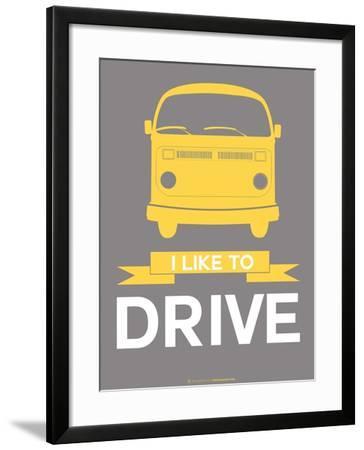 I Like to Drive 1-NaxArt-Framed Art Print