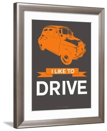 I Like to Drive Beetle 4-NaxArt-Framed Art Print