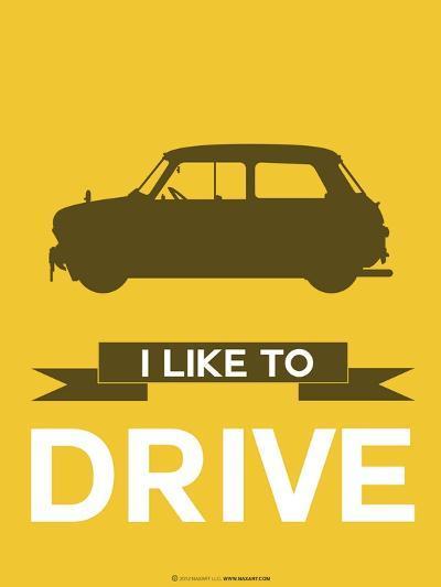 I Like to Drive Mini Cooper 1-NaxArt-Art Print