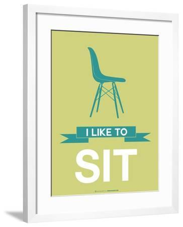 I Like to Sit 2-NaxArt-Framed Art Print