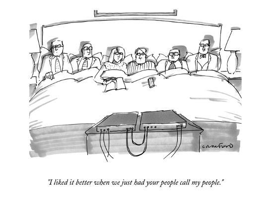"""I liked it better when we just had your people call my people."" - New Yorker Cartoon-Michael Crawford-Premium Giclee Print"