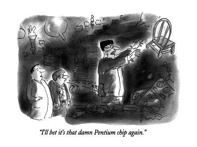 """I'll bet it's that damn Pentium chip again."" - New Yorker Cartoon-Arnie Levin-Premium Giclee Print"