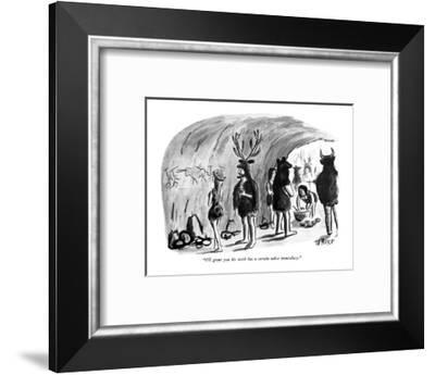 """I'll grant you his work has a certain na?ve immediacy."" - New Yorker Cartoon-Warren Miller-Framed Premium Giclee Print"