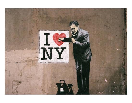I Love NY-Banksy-Art Print