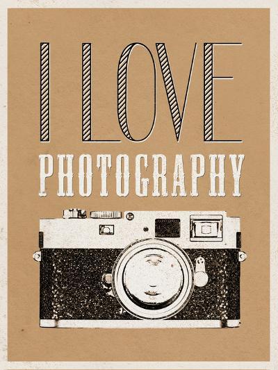 I Love Photography Poster--Art Print