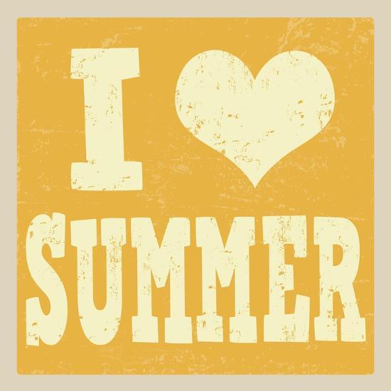 I Love Summer Poster-radubalint-Art Print