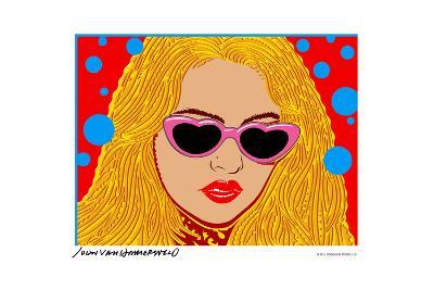 I Love Sunset - Mouth - John Van Hamersveld Poster Artwork-Lantern Press-Art Print