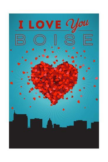 I Love You Boise, Idaho-Lantern Press-Art Print