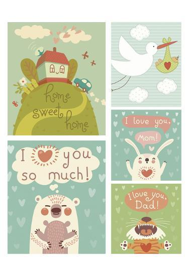 I Love You Collage--Art Print