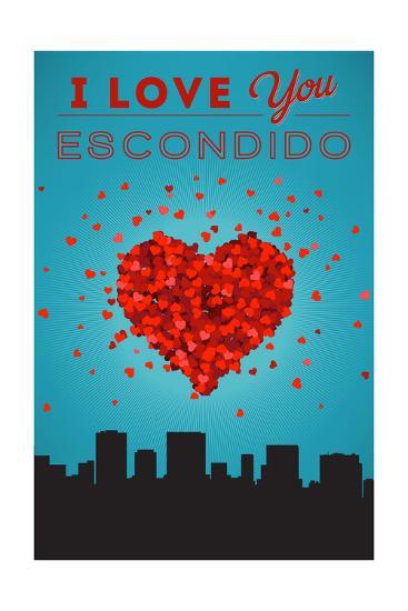 I Love You Escondido, California-Lantern Press-Art Print