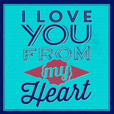 I Love You from My Heart 1-Lorand Okos-Art Print
