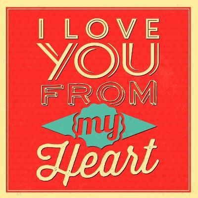 I Love You from My Heart-Lorand Okos-Art Print