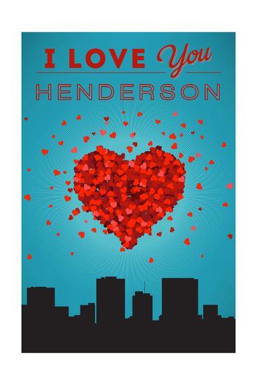 I Love You Henderson, Nevada-Lantern Press-Art Print