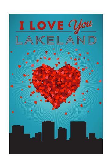 I Love You Lakeland, Florida-Lantern Press-Art Print