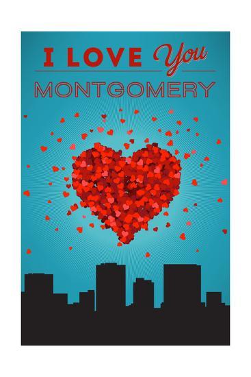 I Love You Montgomery, Alabama-Lantern Press-Art Print