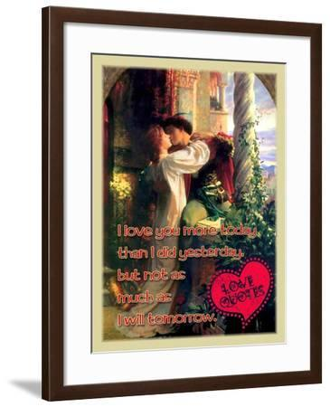I Love You More Today-Cathy Cute-Framed Giclee Print