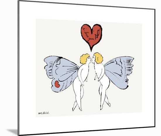 I Love You So, c. 1958 (angel)-Andy Warhol-Mounted Giclee Print