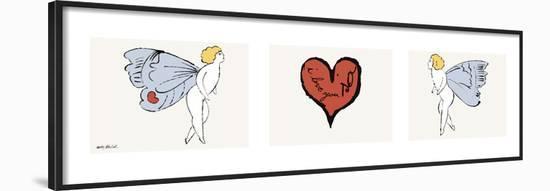 I Love You So, c. 1958 (triptych)-Andy Warhol-Framed Art Print