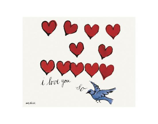 I Love You So, c. 1958-Andy Warhol-Art Print