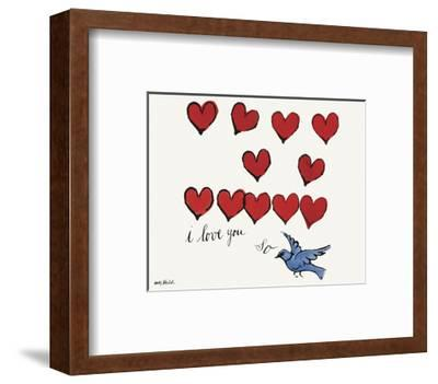I Love You So, c. 1958-Andy Warhol-Framed Art Print