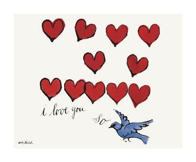 I Love You So, c. 1958-Andy Warhol-Giclee Print