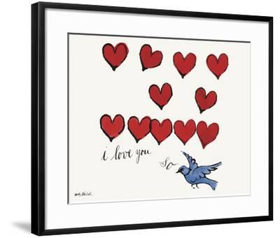 I Love You So, c. 1958-Andy Warhol-Framed Giclee Print