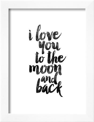 I Love You to the Moon and Back-Brett Wilson-Framed Art Print