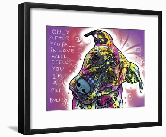 I'm a Pit Bull-Dean Russo-Framed Giclee Print